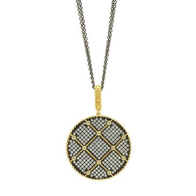 Freida Rothman Signature Double Sided Pendant Necklace