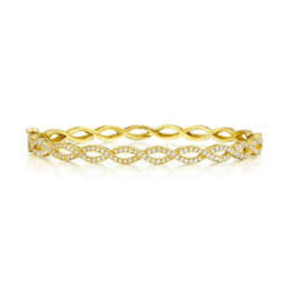 Penny Preville Infinity Yellow Gold Bangle With Diamonds
