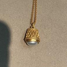 Julie Vos Pearl Drop Necklace