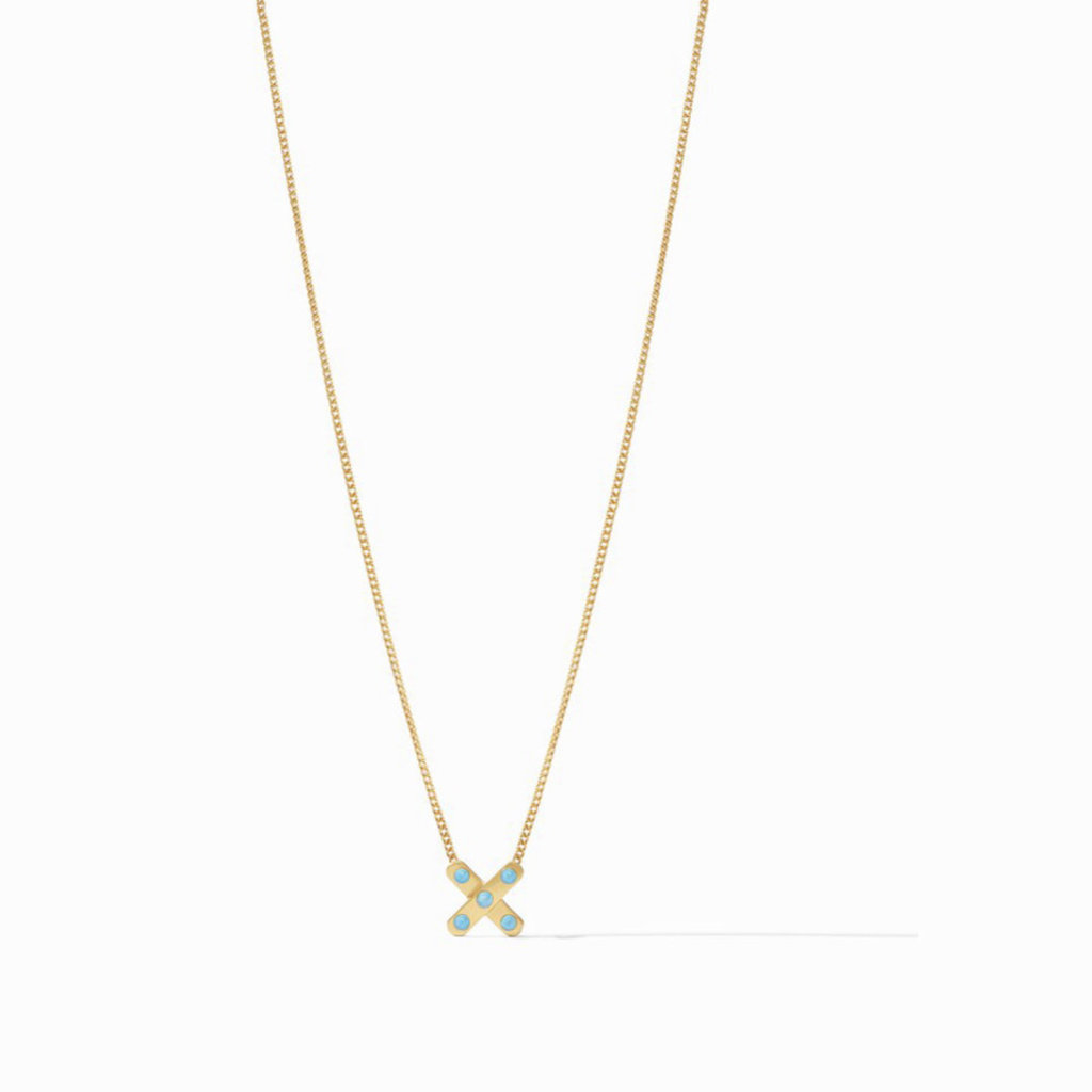 Julie Vos Paris X Delicate Necklace - Pacific Blue