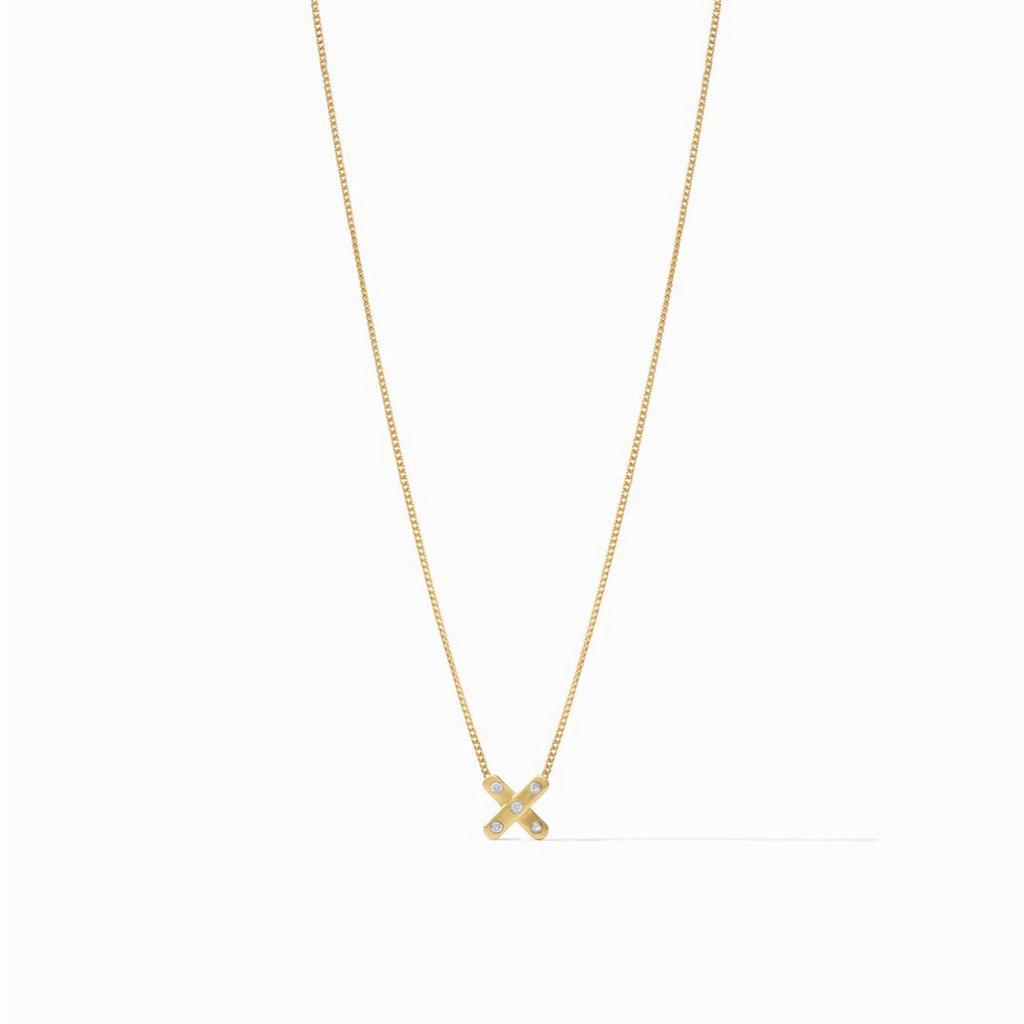 Julie Vos Paris X Delicate Necklace - Zirconia