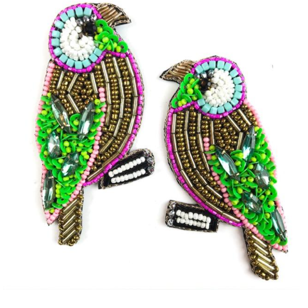 Allie Beads Multi Beaded Bird Earrings