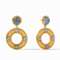 Julie Vos Olympia Earring in Azure Blue
