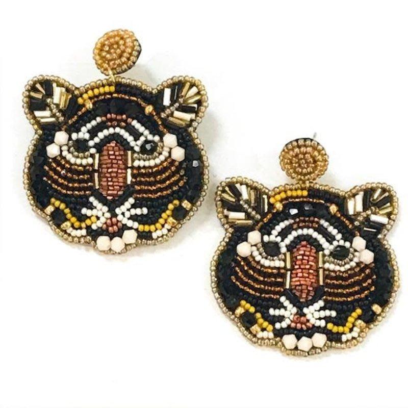 Allie Beads Tiger Earrings