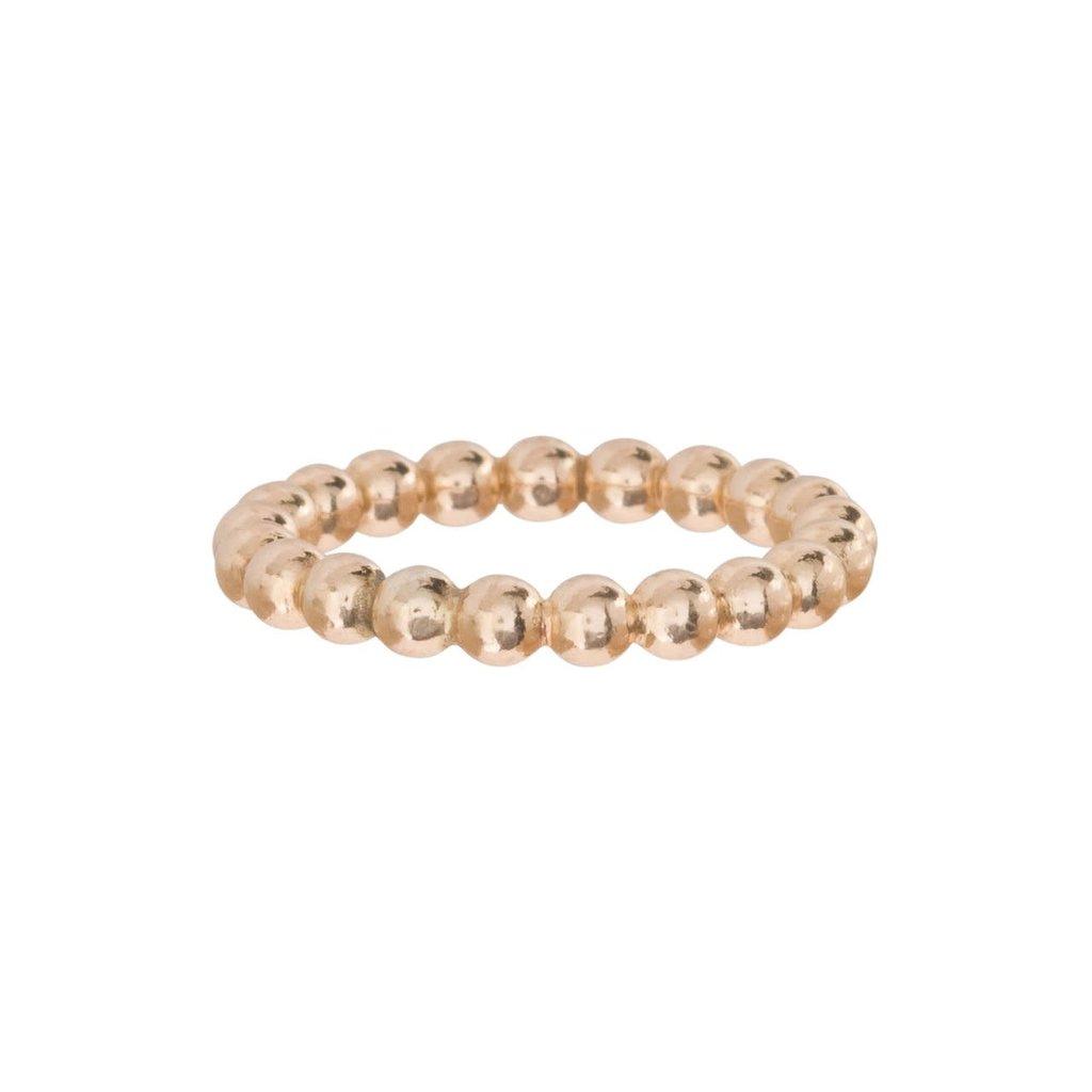 enewton designs llc Classic Gold 3mm Bead Ring Size 7