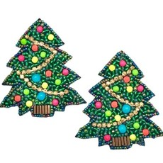Allie Beads Christmas Tree Earrings