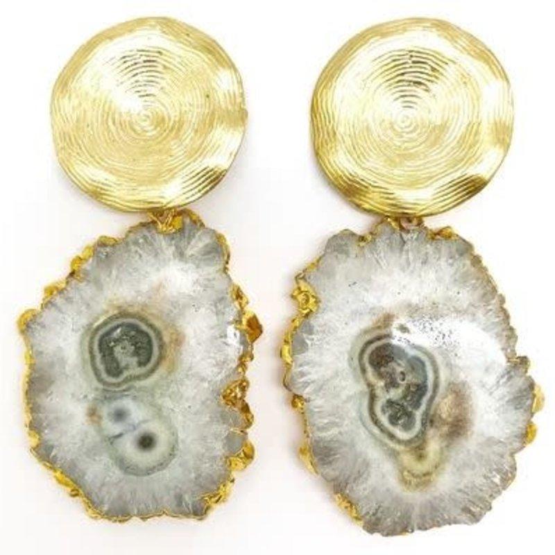 Allie Beads Gemstone Drop Earrings