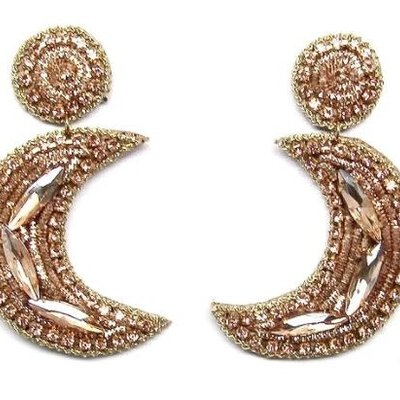 Allie Beads Gold Moon Earrings