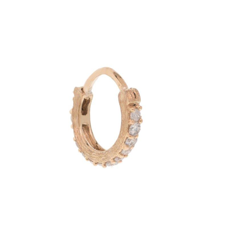 Jude Frances Petite Pave Diamond Hoop Rose Gold