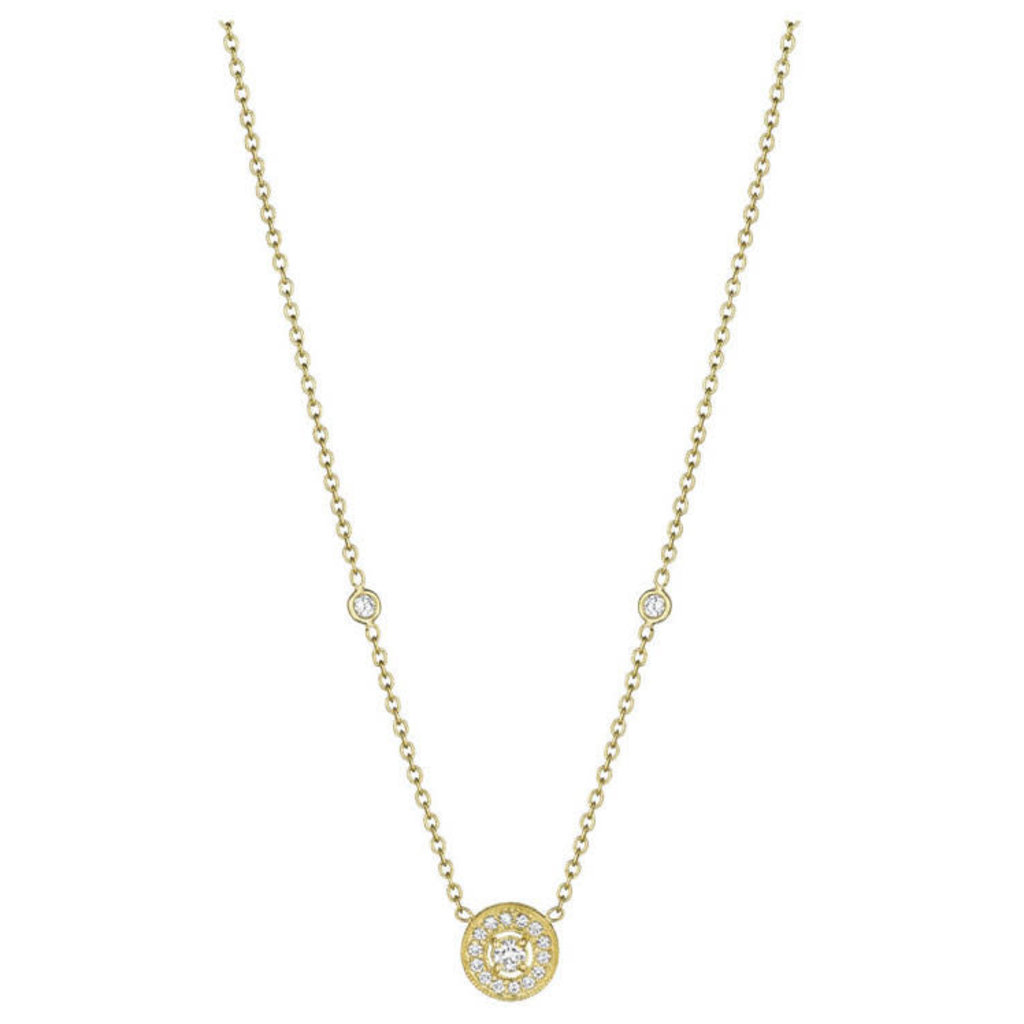Penny Preville Pave Yellow Gold Round Necklace
