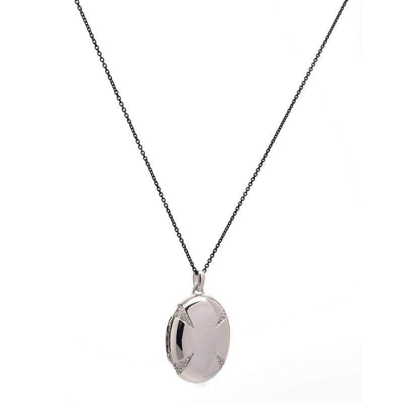 Monica Rich Four Premier Sapphire Locket Necklace