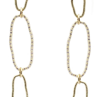 Armenta Pave Oval Earrings