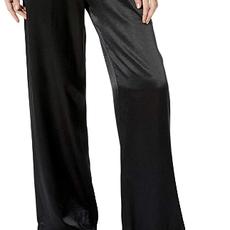 PJ Harlow Jolie Adjustable Drawstring Rib Waistband Satin Pant