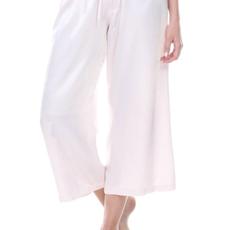 PJ Harlow Jolie Capri Adjustable Drawstring Rib Waistband Satin Pant