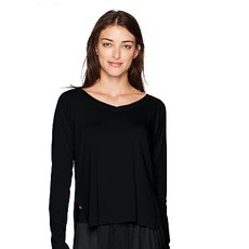 PJ Harlow Frankie Rib Knit High/Low Slit Sweatshirt