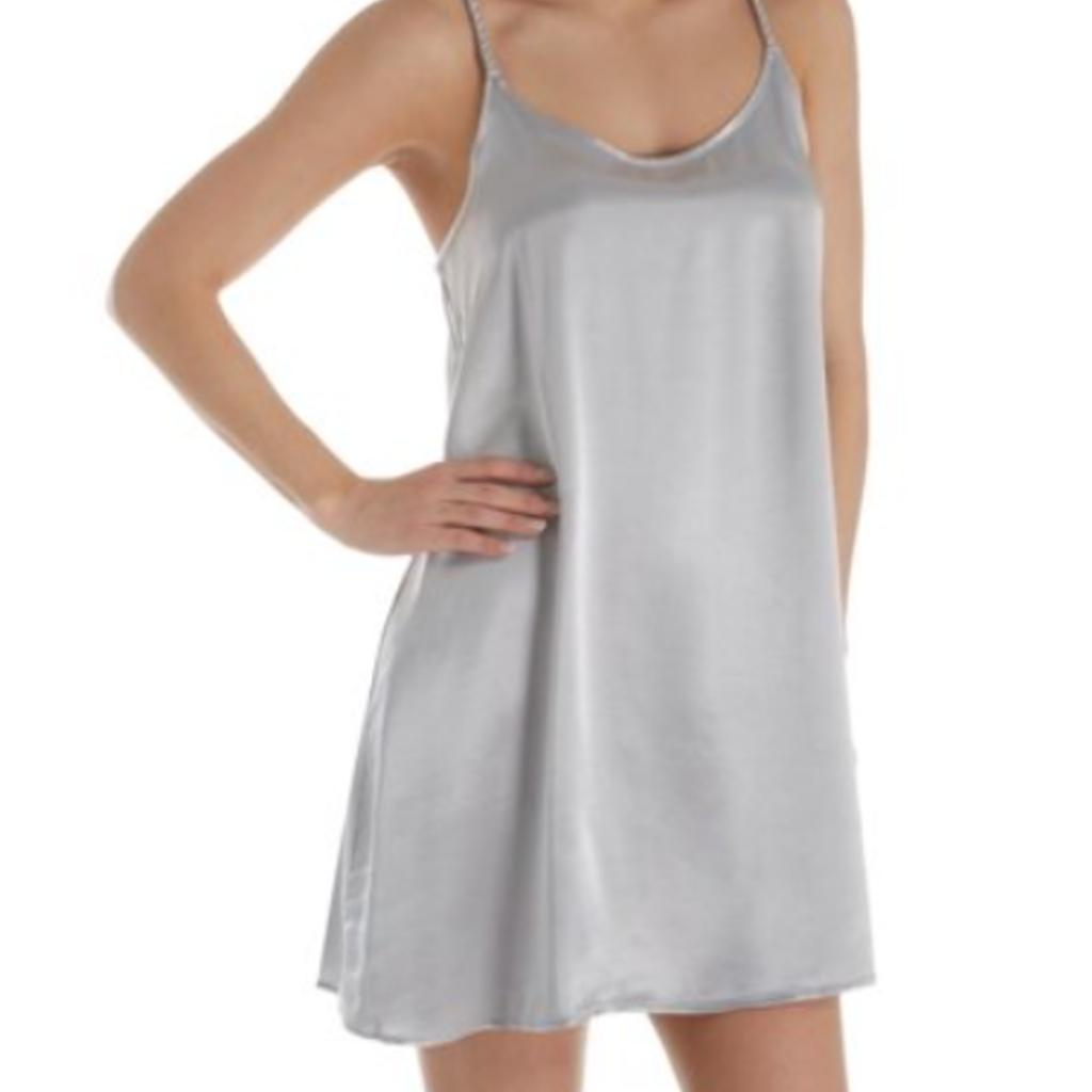 PJ Harlow Rowen Satin Braided Strap Nightgown