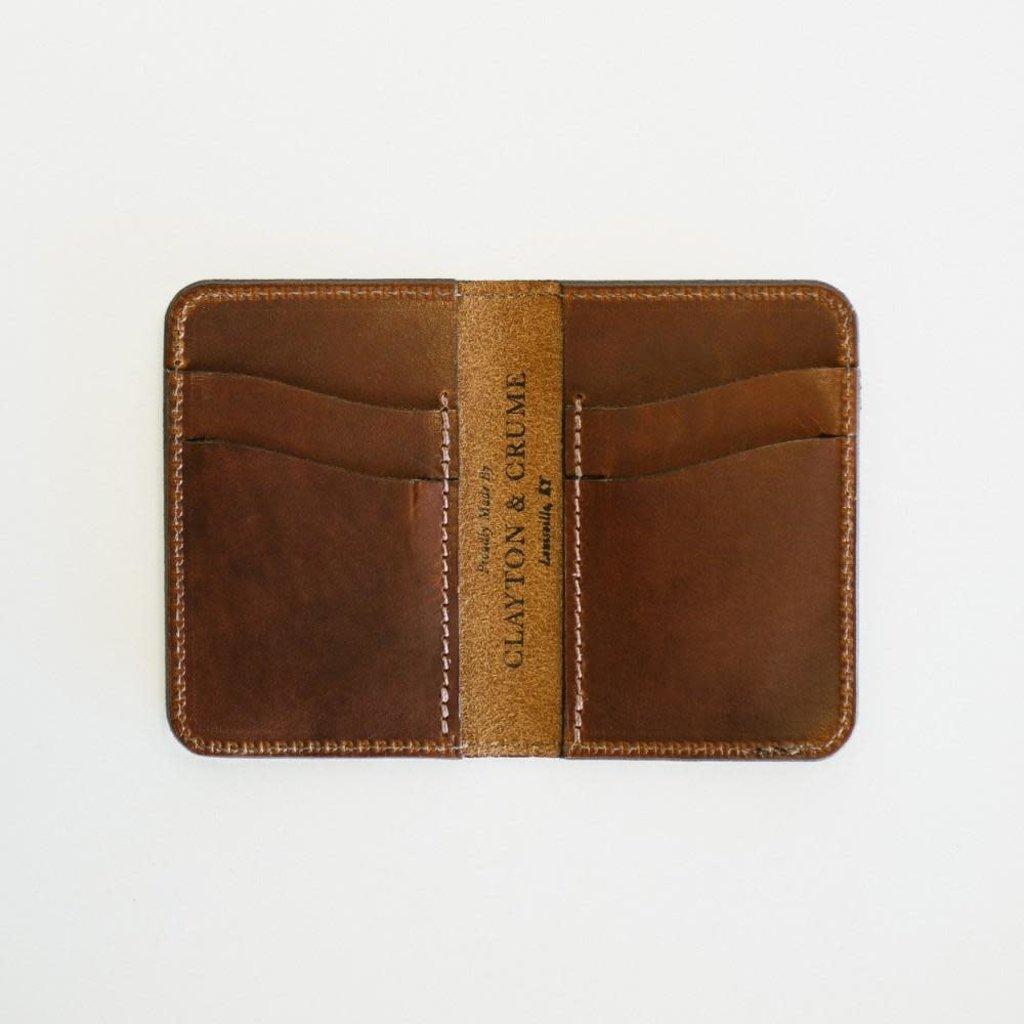 Clayton & Crume Monogrammed Bifold Wallet