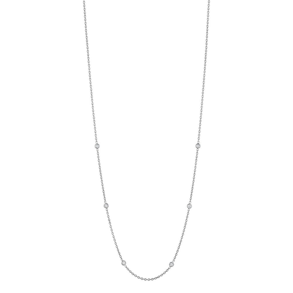 """Penny Preville 18"""" Eyeglass Chain White Gold"""
