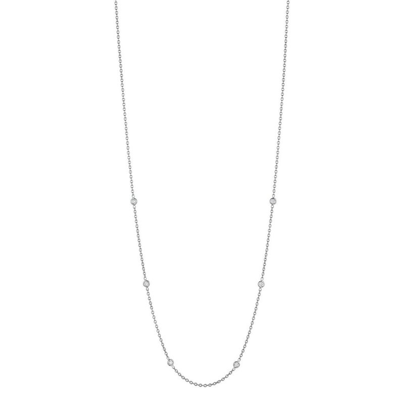 "Penny Preville 18"" Eyeglass Chain White Gold"