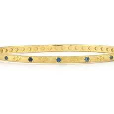 Jude Frances Moroccan Bangle With Pave Set Stone