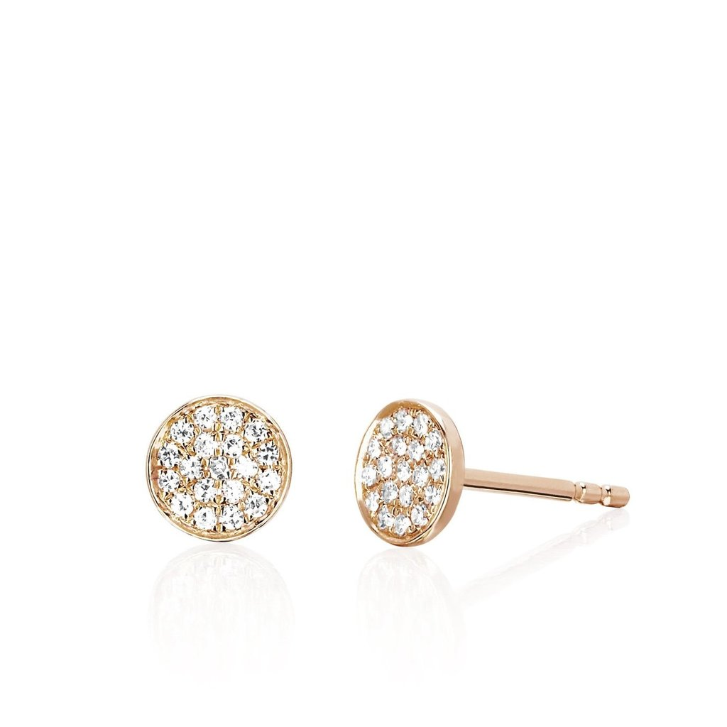 EF Collection Mini Disc Stud Earrings