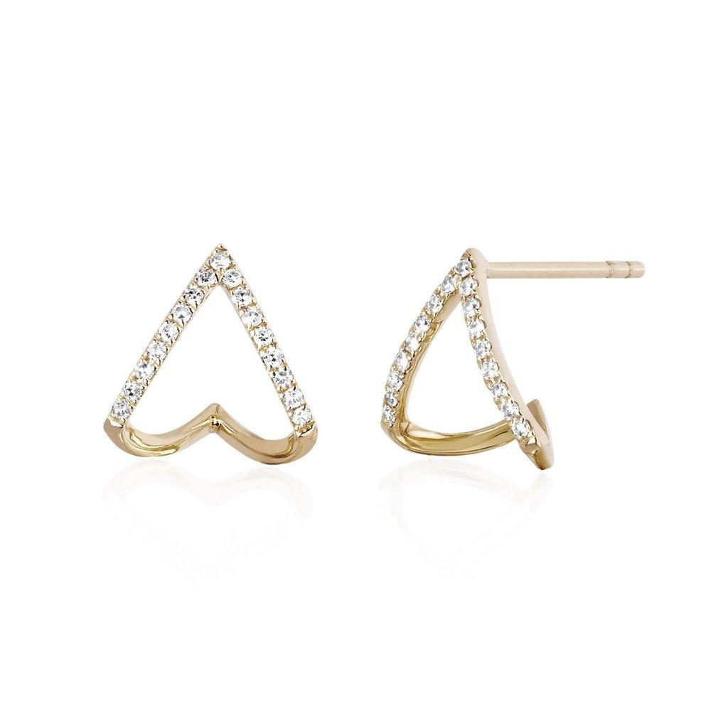 EF Collection Chevron Huggie Earrings