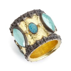 Armenta Scalloped Cigar Band Ring Opal