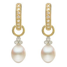 Jude Frances Provence Champagne Briolette Earring Charms Pearl