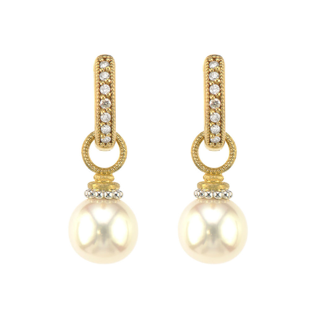 Jude Frances Provence Beaded Pearl Earring Charms