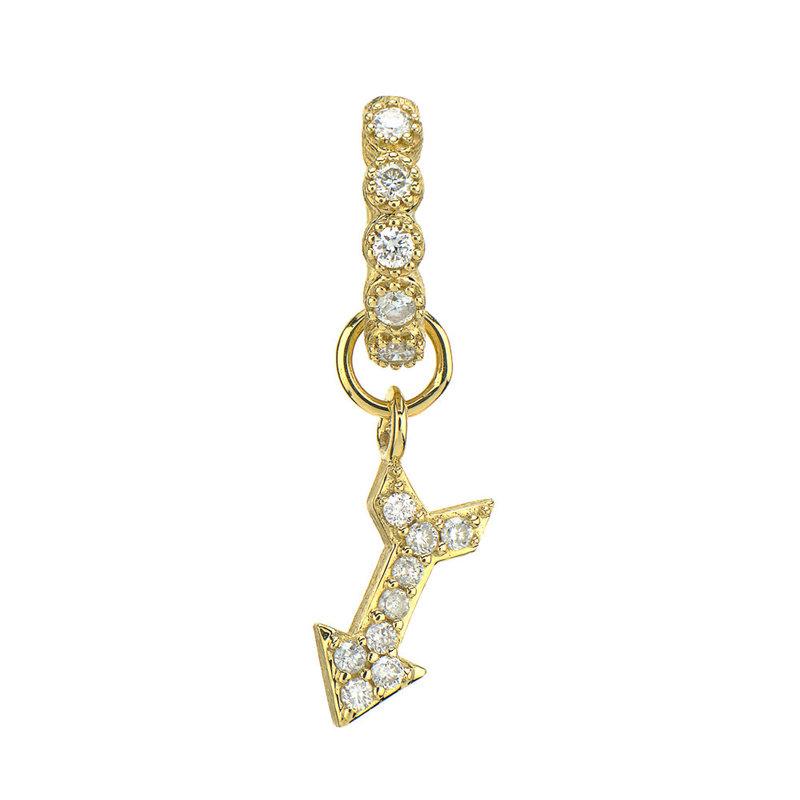 Jude Frances Petite Pave Diamond Arrow Charm
