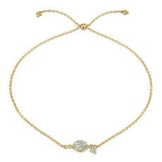 Jude Frances Petite Pave Circle Chain Bracelet