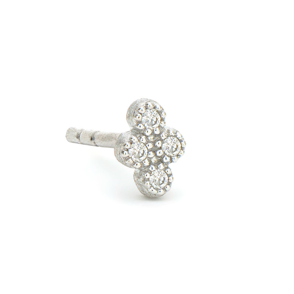 Jude Frances Petite Diamond Quad Stud White Gold