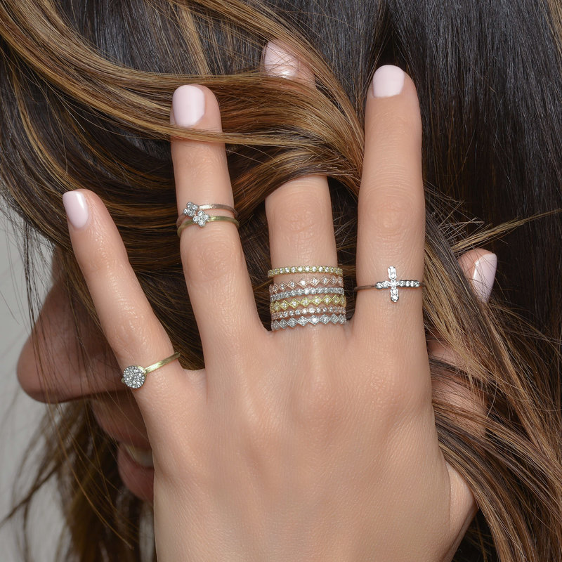 Jude Frances Petite Diamond Quad Midi Ring