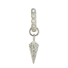 Jude Frances Single Petite Diamond Dagger Earring Charm White Gold