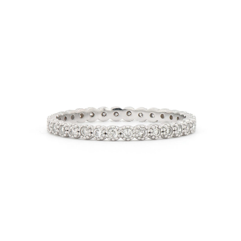 Jude Frances Petite Bezel Diamond Band White Gold