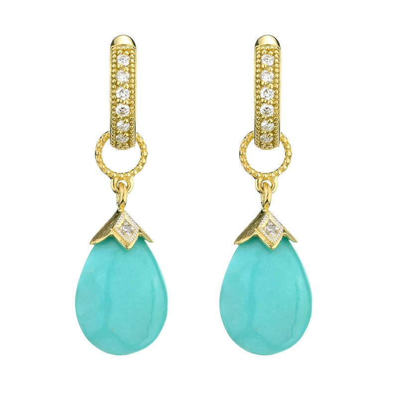 Jude Frances Pear Shape Turquoise Briolette Earring Charms