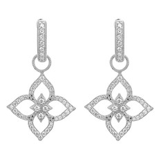 Jude Frances Moroccan Flower Open Pave Earring Charm