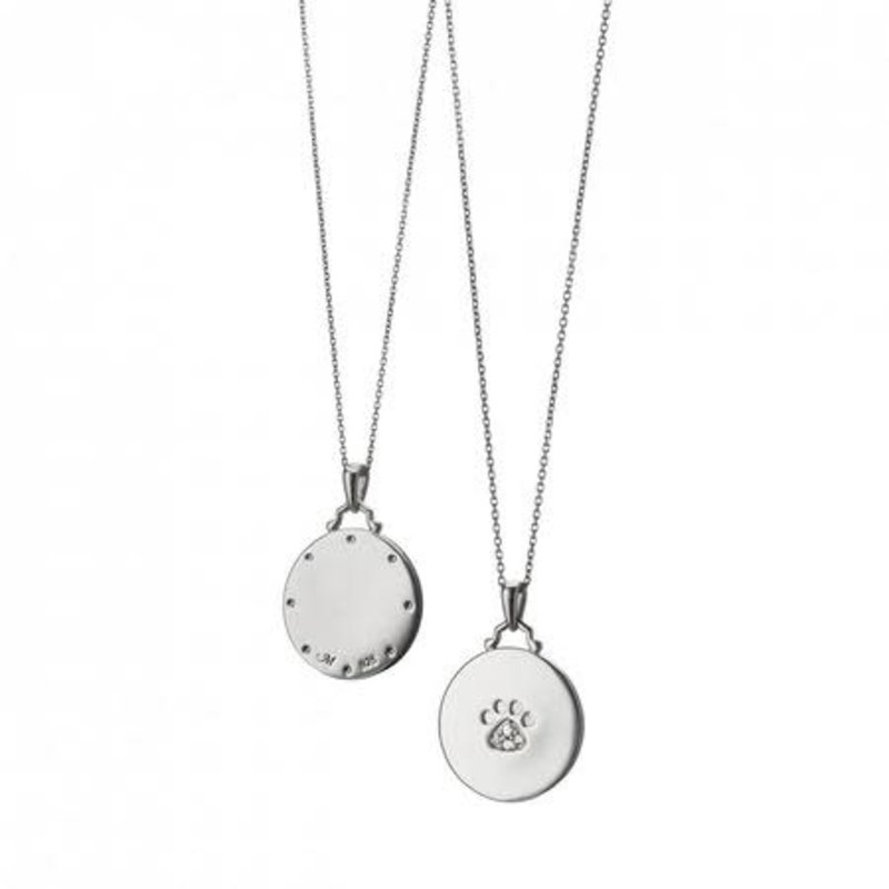 Monica Rich Paw Print Necklace