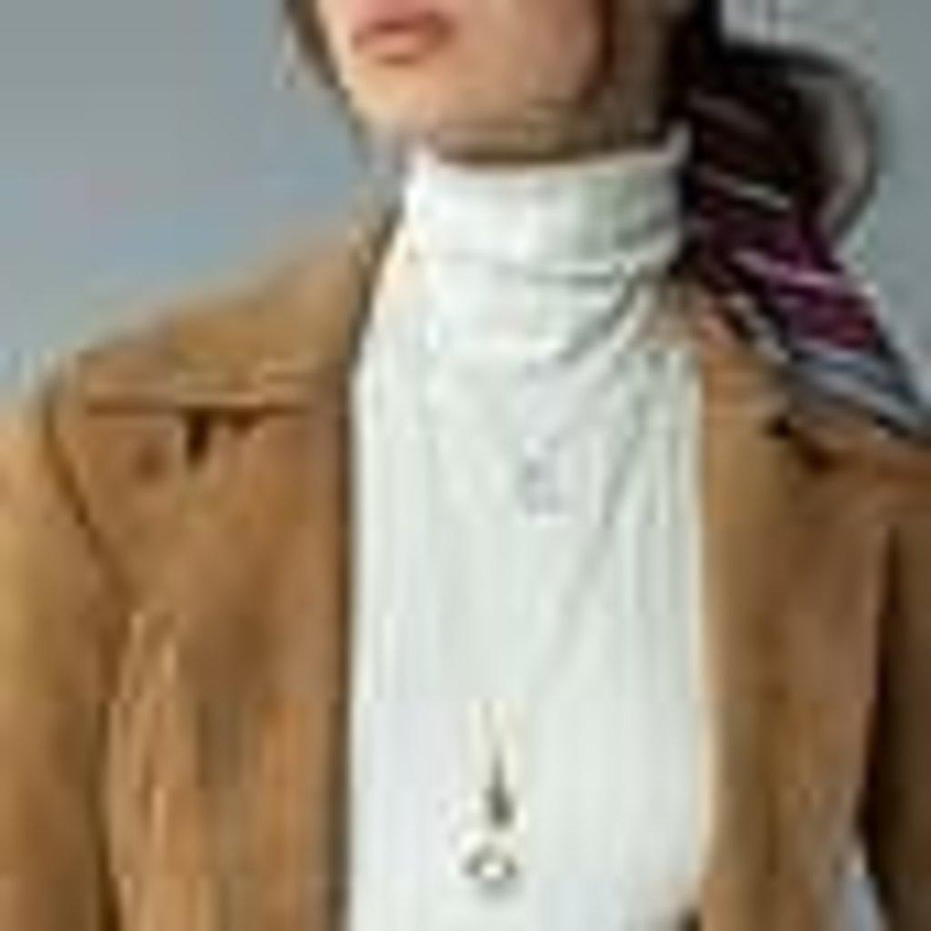 Monica Rich Petite Pinstripe Locket Necklace