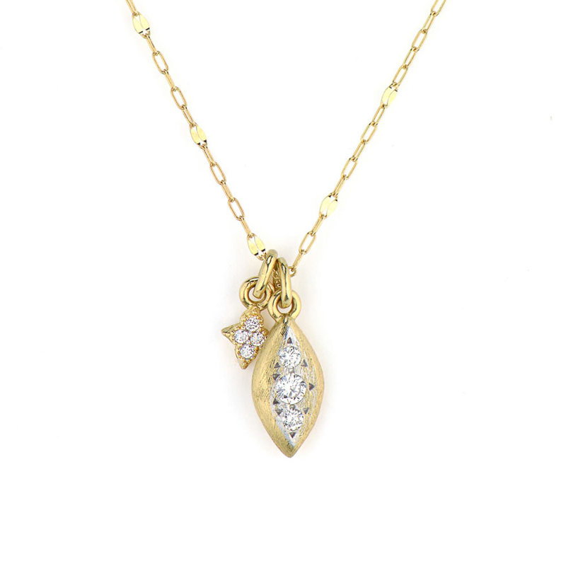 Jude Frances Moroccan Delicate Marquis Diamond Pendant Necklace