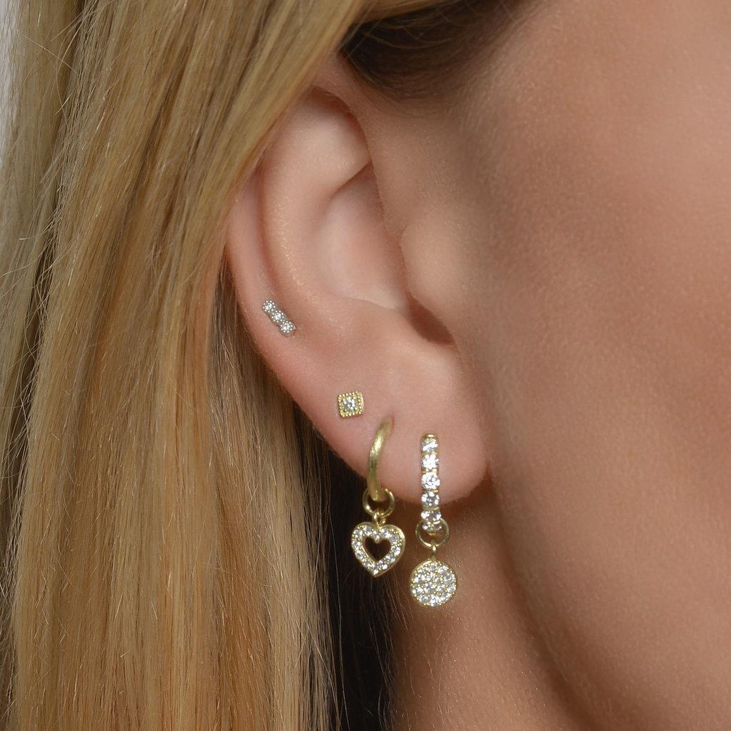 Jude Frances Petite Pave Circle Earring Charm