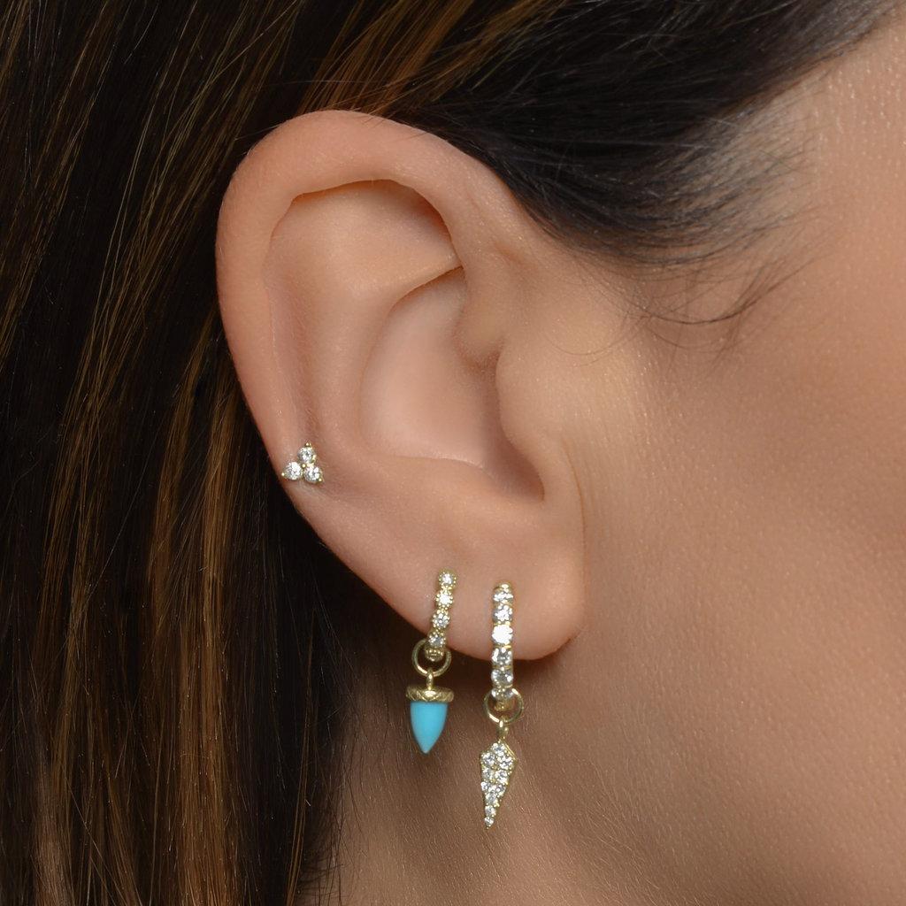 Jude Frances Petite Diamond Dagger Earring Charm