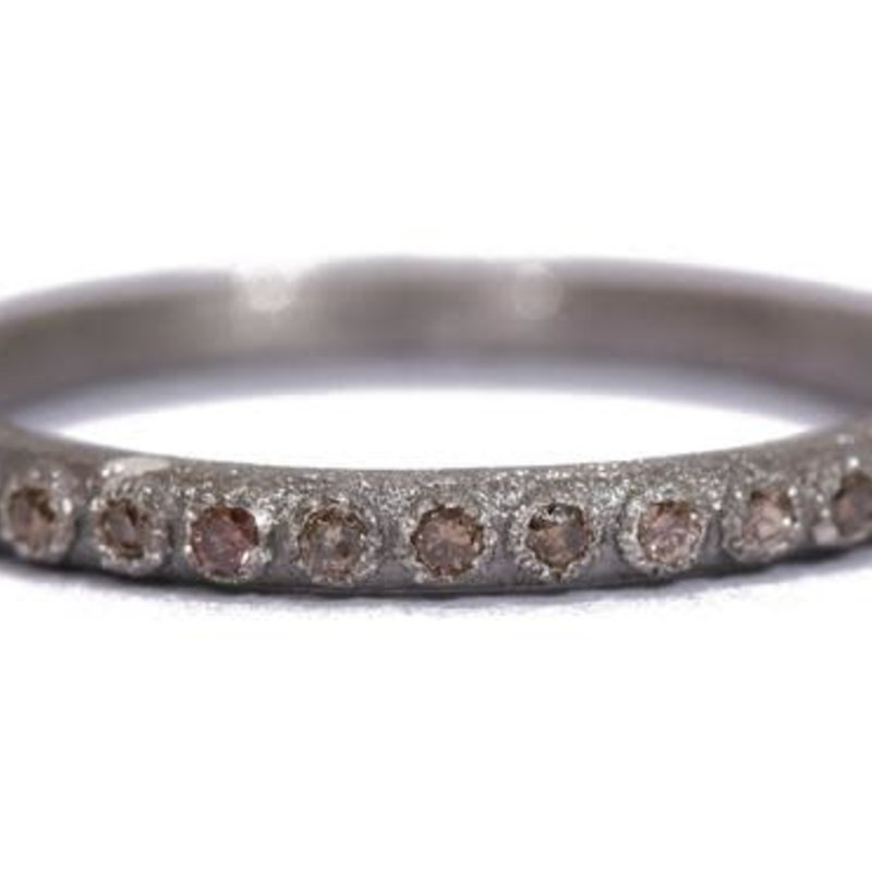 Armenta Grey Diamond Stack Band Ring
