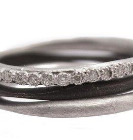 Armenta Set of 3 Stack Band Rings