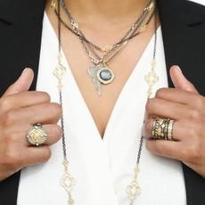Armenta Pave Heart Shield Necklace