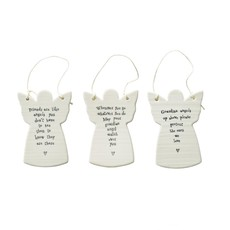 Two's Company White Angel Ornament