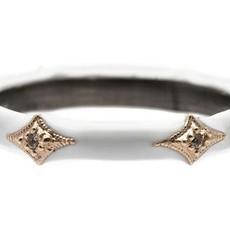Armenta White Enamel Crivelli Stack Band Ring