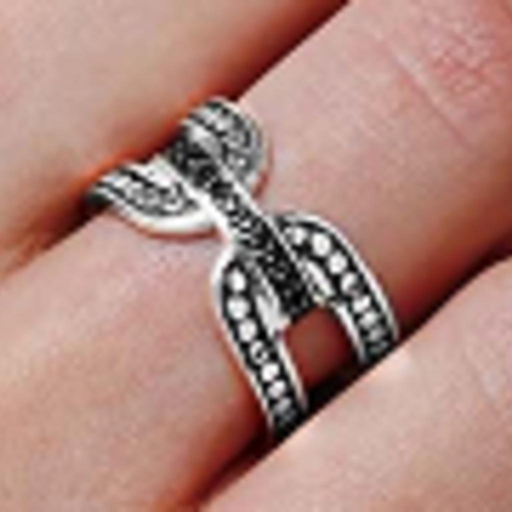 John Hardy Dot Ring with Black Sapphires