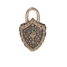 Armenta Padlock Shield Charm
