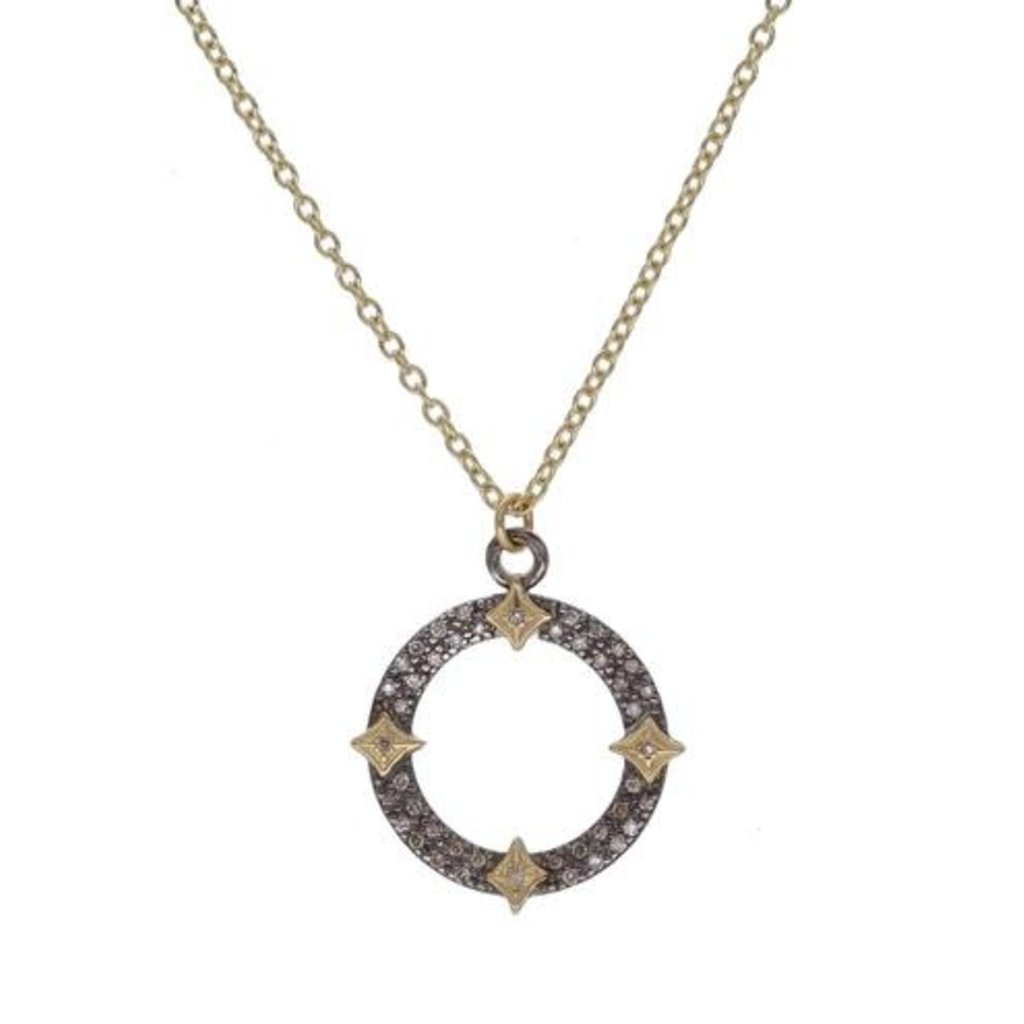 Armenta Open Pave Circle Necklace